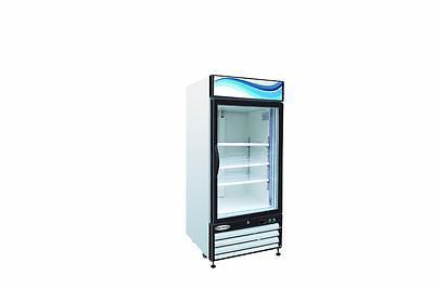 ServWare GF-16 glass door freezer merchandiser BRAND NEW 16 cubit feet