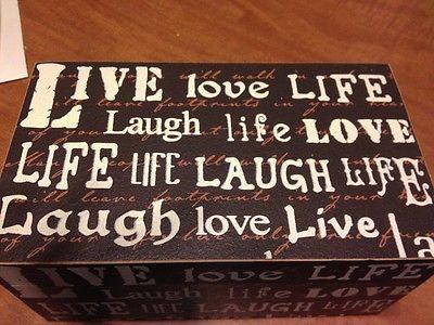 Live Laugh Love Wood Box