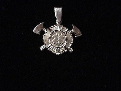 Firefighter Jewelry Fire Rescue Maltese Cross, Sterling Silver