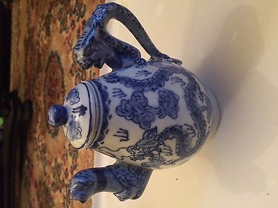 QING Dynasty Chinese DRAGON Teapot