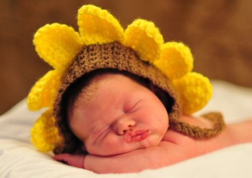 Baby Sunflower Hat Baby Gift- Photo Prop,