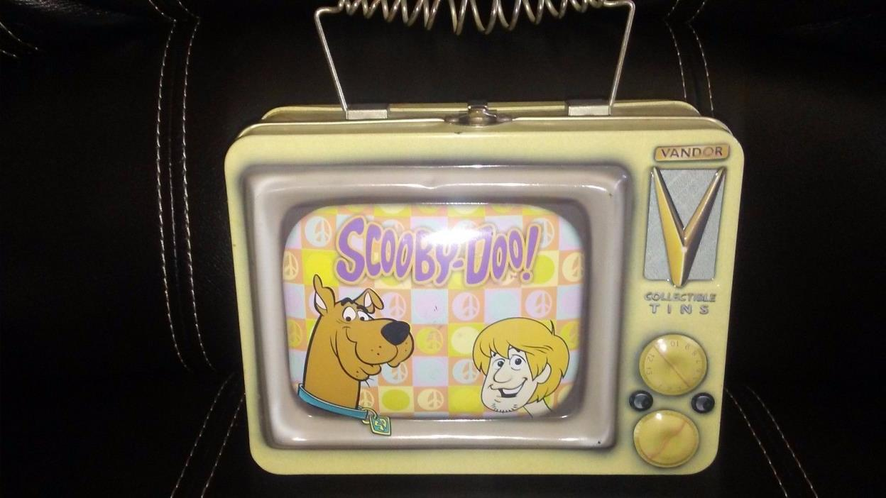 COOECTIBLE TINS RARE SCOOBY-DOO METAL LUNCH BOX
