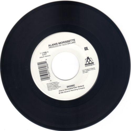 ALANIS MORRISETTE Ironic / Forgiven [45] Maverick 7-17698 Rare 1995 EX