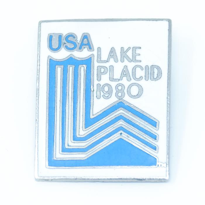 1980 Lake Placid USA Olympic Souvenir Ski Hat Pin