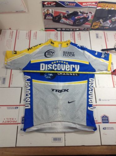 Nike Discovery Channel 7Th Tour Cycling Jersey Size Large L (3700)