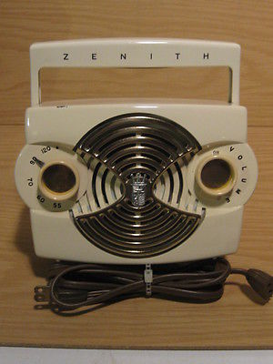 Outstanding Zenith Owl Eye Radio - Ivory