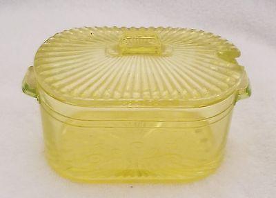 Vintage Vaseline Glass condiment dish