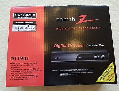 Zenith DTT901 Digital TV Tuner Converter Box **NEW**