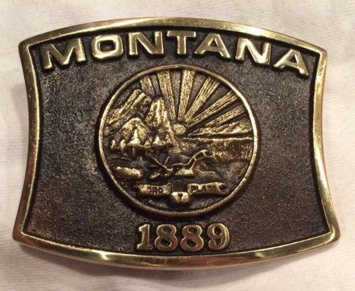 Rare Montana Belt Buckle