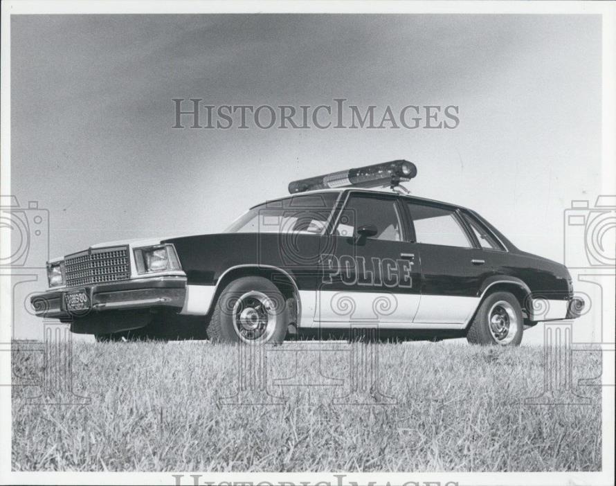 1979 Press Photo Police Car