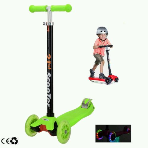 Scooters for Kids,Kingo Wide Deck 3 Wheels Scooter