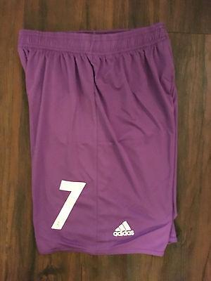 New With Tags #7 Ronaldo Real Madrid Purple Away soccer Shorts Size Medium