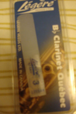 Legere Bb Clarinet Reed #3 New