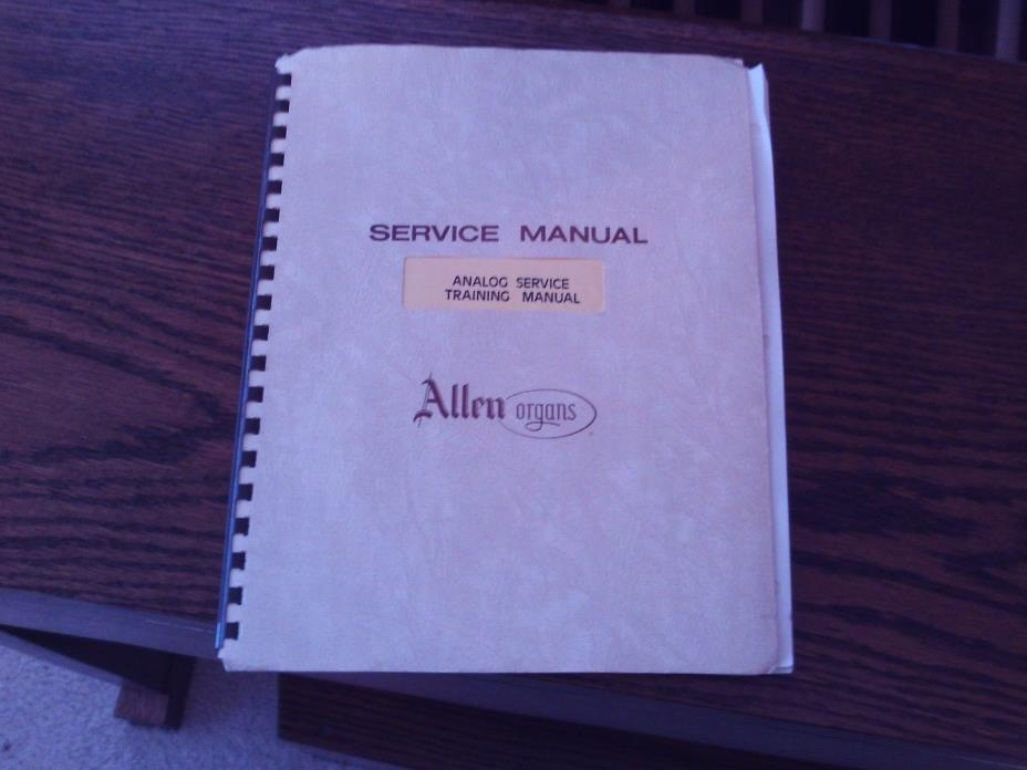 Allen Organ Analog Service Training Manual