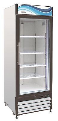 ServWare GF-23 glass door freezer merchandiser BRAND NEW 23 cubit feet