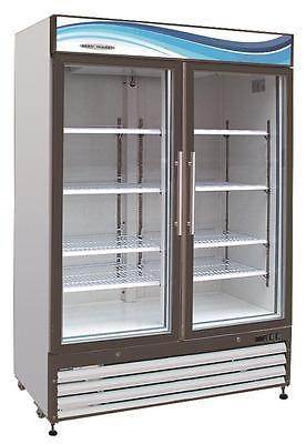 ServWare GF-48 glass door freezer merchandiser BRAND NEW 48 cubit feet