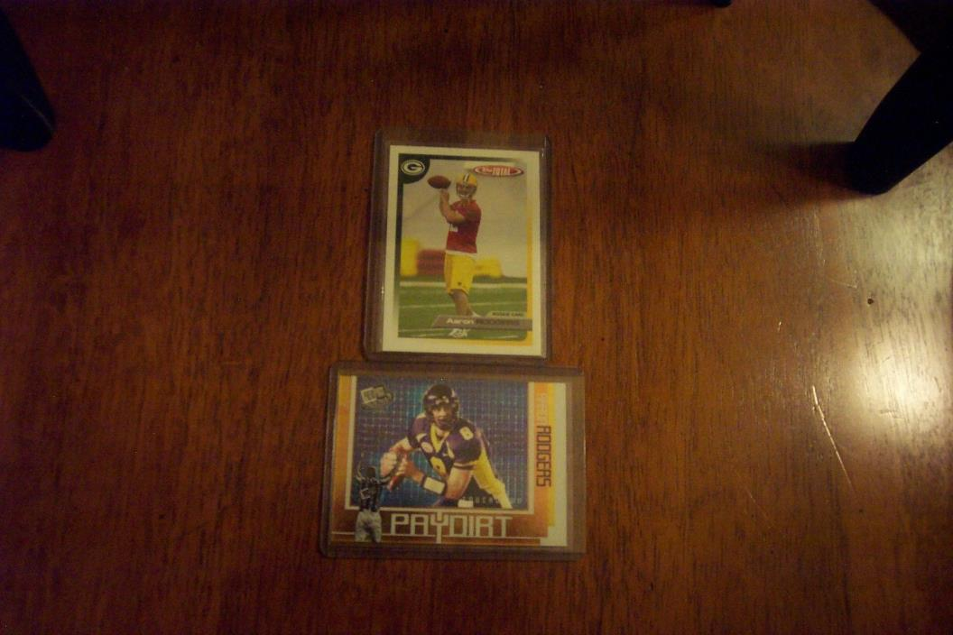 AARON RODGERS 2005 TOPPS TOTAL FB RC W/RC INSERT-2 CARD LOT PACKERS FUTURE HOFER