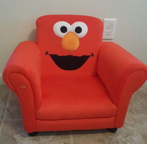 Elmo Chair Seat - Sesame Street Upholstered Red Kids Children Furniture Play