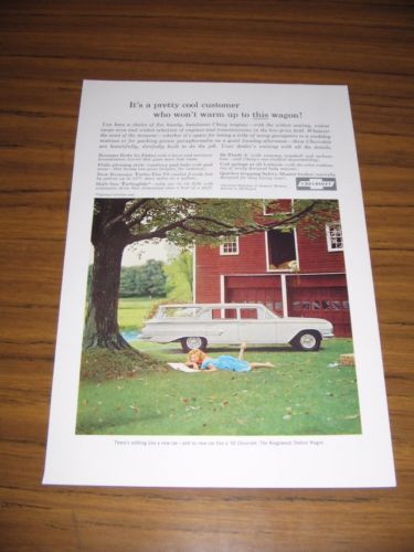 1960 Print Ad The '60 Chevrolet Kingswood Station Wagon Chevy by Barn