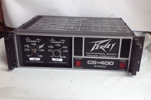 Peavey CS-400 Professional Stereo Power Amplifier Rack Mount Amp