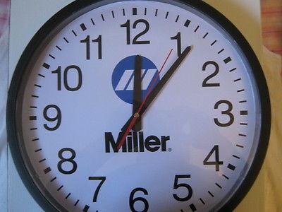 MILLER ELECTRIC WELDER 16 IN CLOCK NEW