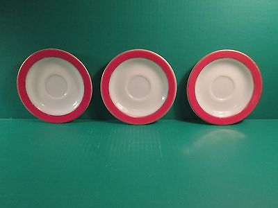 (3) Vintage Pyrex Pink Flamingo 6