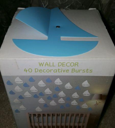 New Baby Boy Tiny Miracles Wall Decor 40 Decorative Sailboat Nautical Blue 3D