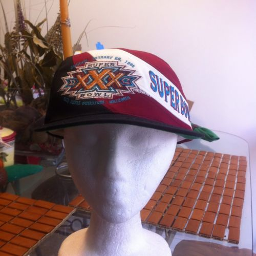 Vintage Super Bowl 1996 Snapback Hat NFL Football Big Logo