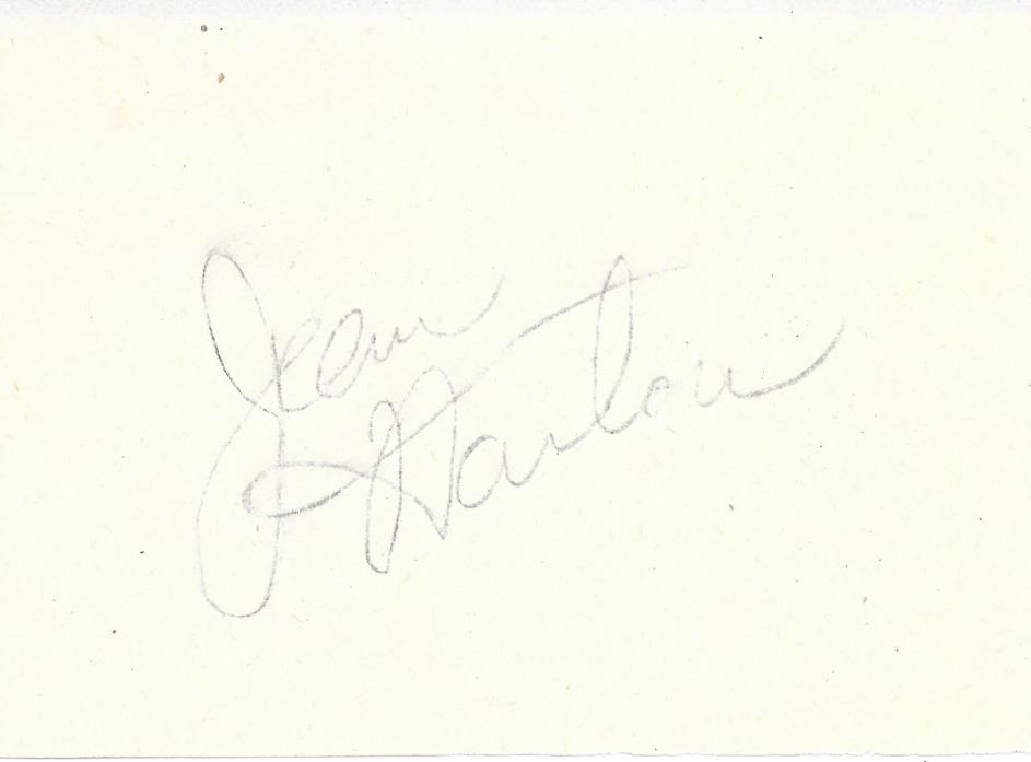 Jean Harlow Hand Signed Autographed Album Page COA Not Mama Jean