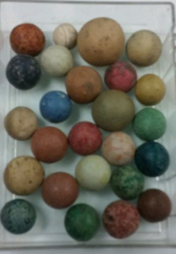 25 clay vintage antique marbles  lot #9