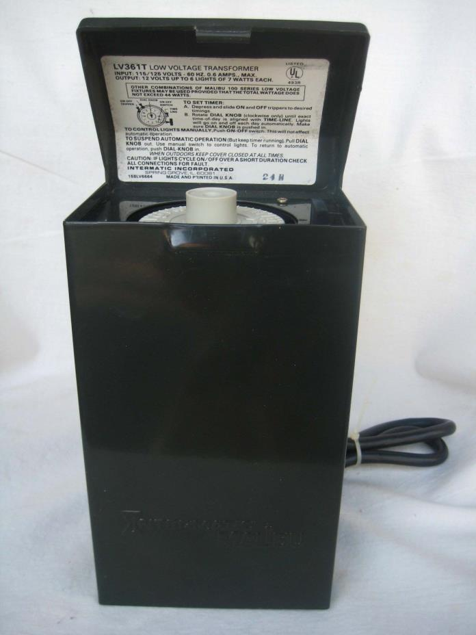 Low voltage lights and timer for sale classifieds for Intermatic landscape lighting