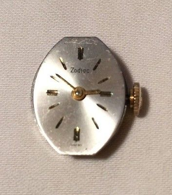 Vintage Zodiac 17 Jewel Ladies Watch Movement #AS 1012 Swiss