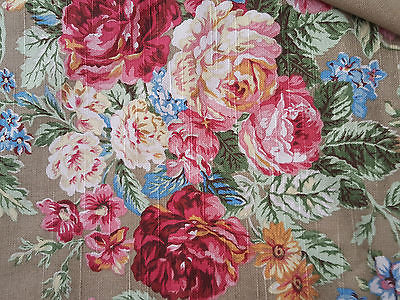 LOVELY RALPH LAUREN CABBAGE ROSES HEAVY FABRIC - 4 Yards