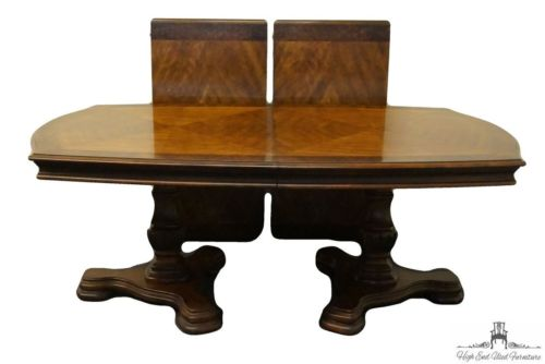 DREXEL HERITAGE Banded Parquetry 118? Double Pedestal Dining / Conference Tab…