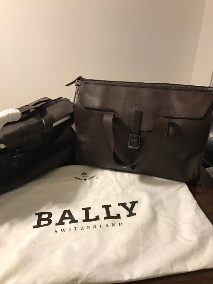 BRAND NEW, NEVER USED - Bally Briefcase and Duffel Bag - PACKAGE DEAL