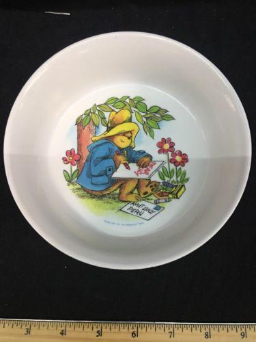 Vintage 1981 Paddington Bear Cereal Bowl By Silite Hard Plastic