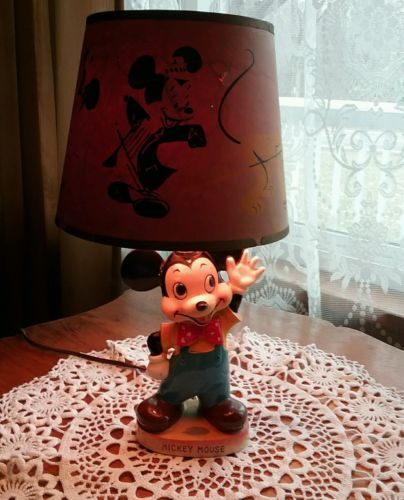 Vintage Mickey Mouse Lamp circa 1960s