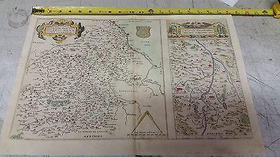 1573 Abraham Ortelius Dual Map of France Authentic Original w/ Watermark