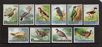 BIRDS - SAN MARINO #446-455