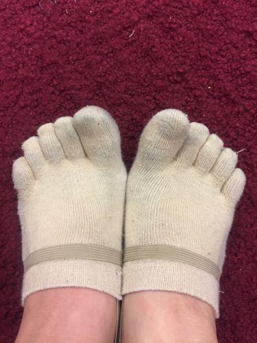 used pre owned womens socks Gymnastics Shoes 5 Toes Socks Half Socks