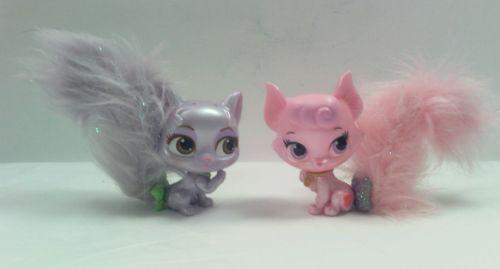 Lot  2 DISNEY Pets PVC FURRY TAIL Pink Kitten Purple Kitten #312120 Big Toys LLC