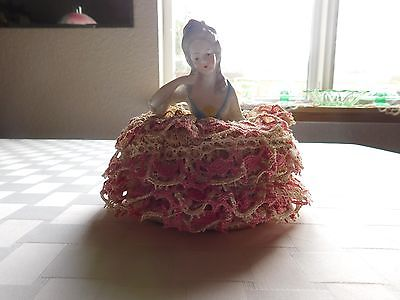 VIntage Victorian Pincushion Porcelain Doll (GERMANY #5022)