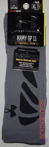 New Mens Under Armour Performance Heatgear Socks XL Graphite