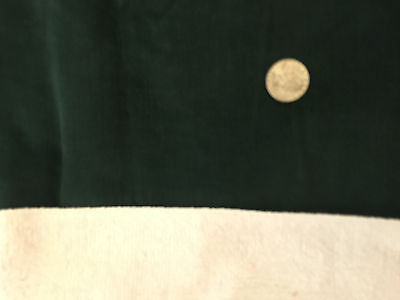 Vintage Fabric Cotton CORDUROY Deep Forest EverGreen Fine Baby Wale 33