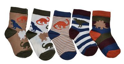 5 pairs of Baby Boys Dinosaurs socks
