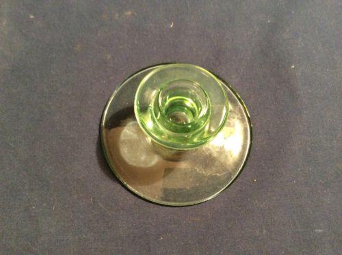 Vaseline Glass Candle Holder