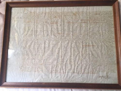 1404 French King Decree Historic Document Framed