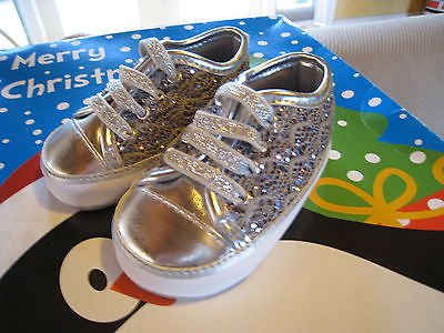 Silver Sparkley baby girl shoes