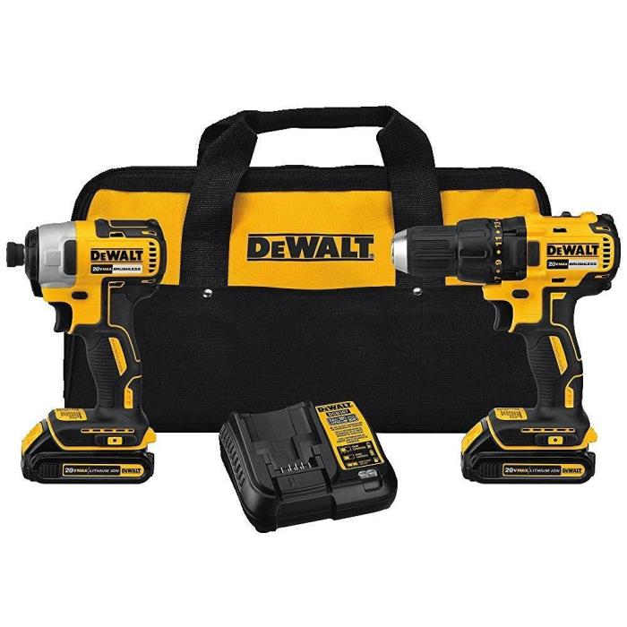 DEWALT 20V MAX* 1.5Ah LITHIUM-ION COMPACT BRUSHLESS 2PC COMBO KIT DCK277C2 NEW
