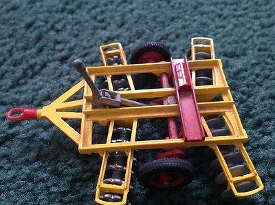 vintage toy farm plow/implements